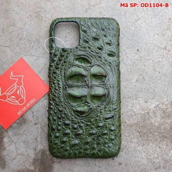 Ốp Lưng Cá Sấu Iphone11 promax Gù Xanh Lá OD1104-B