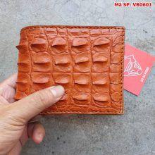 Bóp Da Cá Sấu Nam Nguyên Con Gai Lưng VB0601