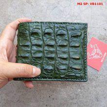 Bóp Ví Da Cá Sấu Xanh Lá VB1101