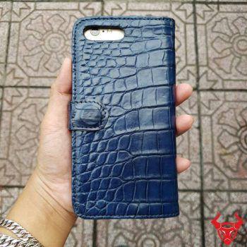 Bao Da Cá Sấu Iphone 7 Plus Navy Sang Trọng