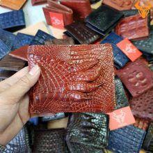 Bóp Ví Da Cá Sấu Nam Bàn Tay VB0406