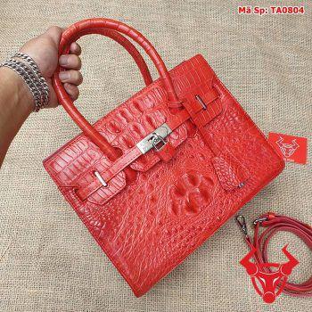Túi xách nữ đeo chéo da cá sấu gù đỏ tươi TA0804