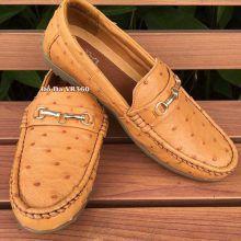 Giày Mọi Da Đà Điểu DD03 Vàng Bò Giá Rẻ