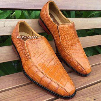 Giày Tây Da Cá Sấu Thật GB0608 Da Trơn Size41