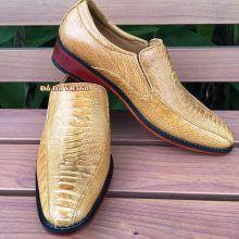 Giày Tây Da Đà Điểu Thật GB06D1 Kiểu Vây Chân