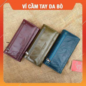 Ví Da Bò Cầm Tay Nam Cao Cấp VICT08
