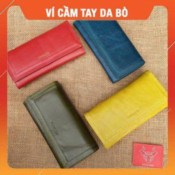 Ví Da Cầm Tay Nam Da Bò Cao Cấp VICT07